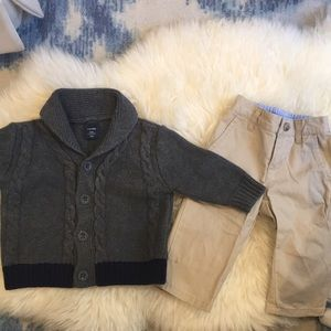 Other - Boy sweater and khakis 6-12 months